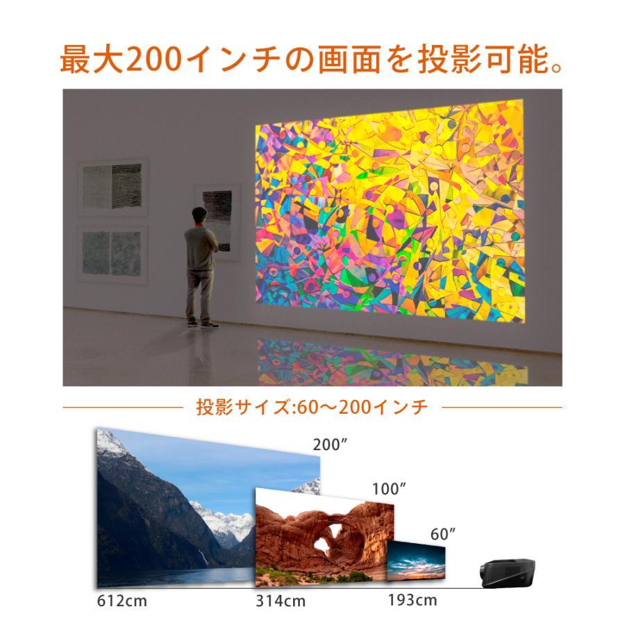プロジェクター  高画質 3500ルーメン 高解像度 家庭用 モバイル スマホ iphone ビジネス 安い HDMI ケーブル付 本体 映画 FunLogy Plus sandlot-books 12