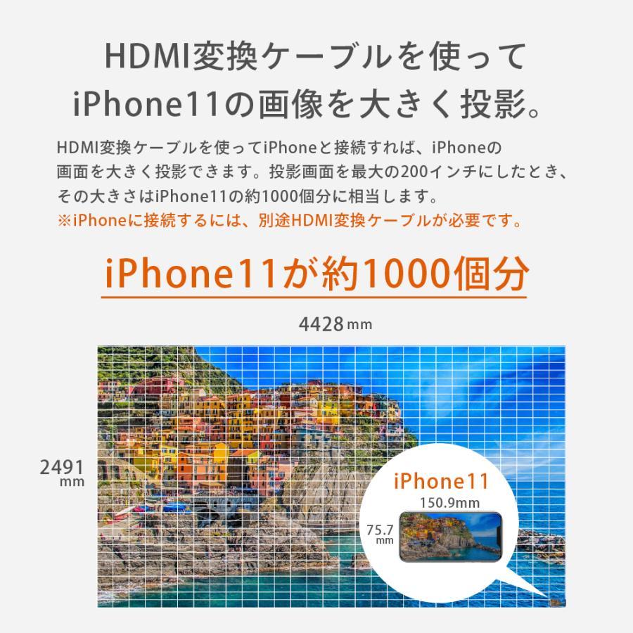 プロジェクター  高画質 3500ルーメン 高解像度 家庭用 モバイル スマホ iphone ビジネス 安い HDMI ケーブル付 本体 映画 FunLogy Plus sandlot-books 13