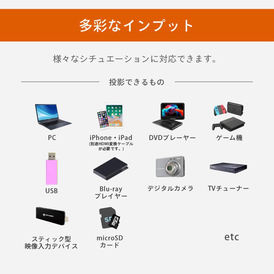 プロジェクター  高画質 3500ルーメン 高解像度 家庭用 モバイル スマホ iphone ビジネス 安い HDMI ケーブル付 本体 映画 FunLogy Plus sandlot-books 15