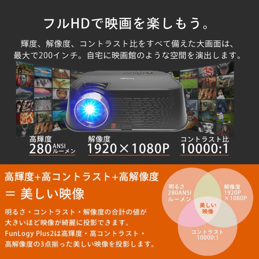 プロジェクター  高画質 3500ルーメン 高解像度 家庭用 モバイル スマホ iphone ビジネス 安い HDMI ケーブル付 本体 映画 FunLogy Plus sandlot-books 05