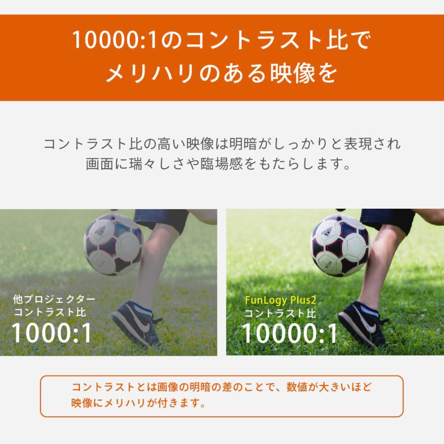 プロジェクター  高画質 3500ルーメン 高解像度 家庭用 モバイル スマホ iphone ビジネス 安い HDMI ケーブル付 本体 映画 FunLogy Plus sandlot-books 09