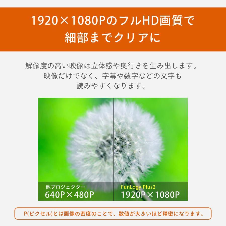 プロジェクター  高画質 3500ルーメン 高解像度 家庭用 モバイル スマホ iphone ビジネス 安い HDMI ケーブル付 本体 映画 FunLogy Plus sandlot-books 10