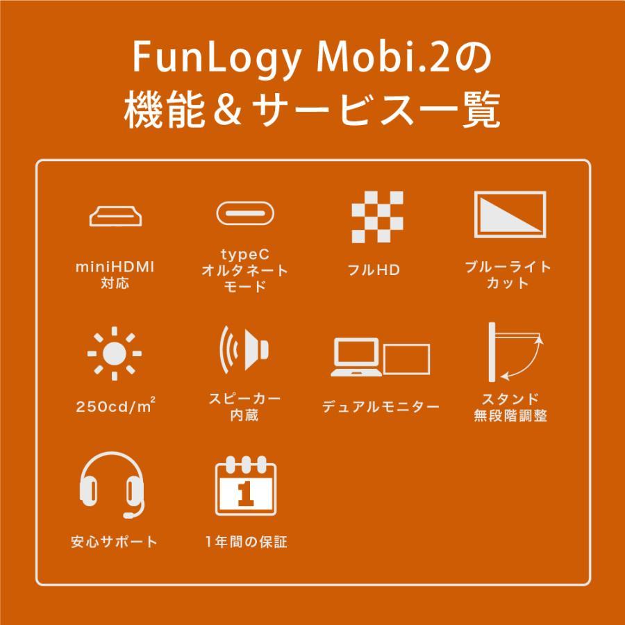 モバイルモニター モニター 14インチ 軽量 薄型 ノングレア フルHD HDMI カバー付き テレワーク ゲームモニター ゲーム ビジネス FunLogy Mobi. sandlot-books 16