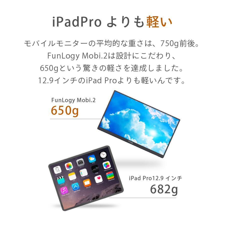 モバイルモニター モニター 14インチ 軽量 薄型 ノングレア フルHD HDMI カバー付き テレワーク ゲームモニター ゲーム ビジネス FunLogy Mobi. sandlot-books 03