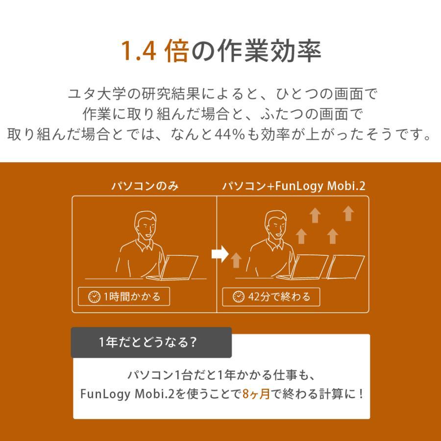 モバイルモニター モニター 14インチ 軽量 薄型 ノングレア フルHD HDMI カバー付き テレワーク ゲームモニター ゲーム ビジネス FunLogy Mobi. sandlot-books 09