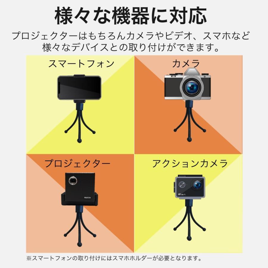 三脚 S コンパクト カメラ アクションカメラ デジカメ iPhone スマホ プロジェクター 軽量 小型 持ち運び プレゼン  ビジネス オフィス ホームシアター 自由調整|sandlot-books|05