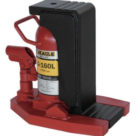 イーグル(今野製作所) 油圧爪つきジャッキ(ロングタイプ) / 7.0ton / G-160L レバー回転・安全弁付き・レバーハンドル付き オイルジャッキ/油圧ジャッ