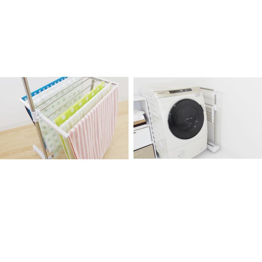 室内物干し 物干しスタンド 物干し 伸縮式 タオルハンガー タオル干し 部屋干し 洗濯干し 伸縮 大容量 多機能 コンパクト 洗濯物干し ekans エカンズ AY-101S sanesufitting 03