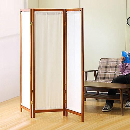 木製スクリーン(帆布)3連 帆布 パーテーション おしゃれ 衝立 間仕切り