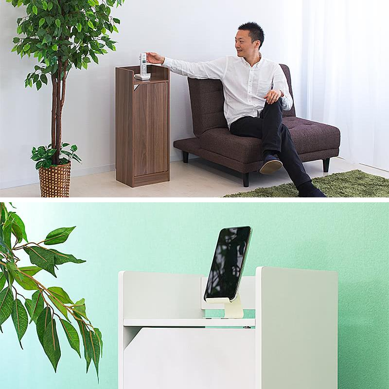電話台 モデムラック 小型 コンパクト 省スペース スリム モデム wifi ラック 収納|sangostyle|03