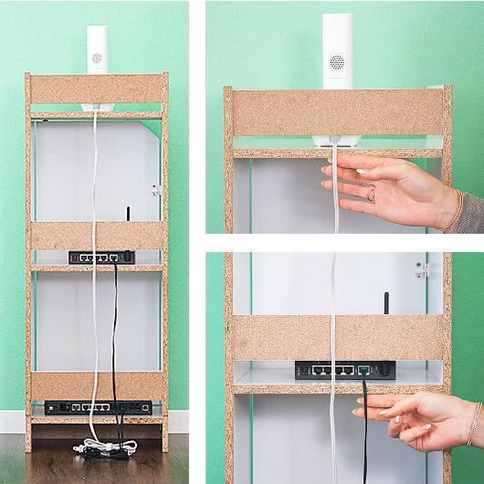 電話台 モデムラック 小型 コンパクト 省スペース スリム モデム wifi ラック 収納|sangostyle|07