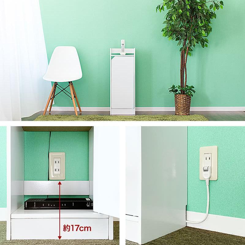 電話台 モデムラック 小型 コンパクト 省スペース スリム モデム wifi ラック 収納|sangostyle|08
