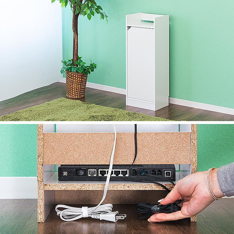 電話台 モデムラック 小型 コンパクト 省スペース スリム モデム wifi ラック 収納|sangostyle|09
