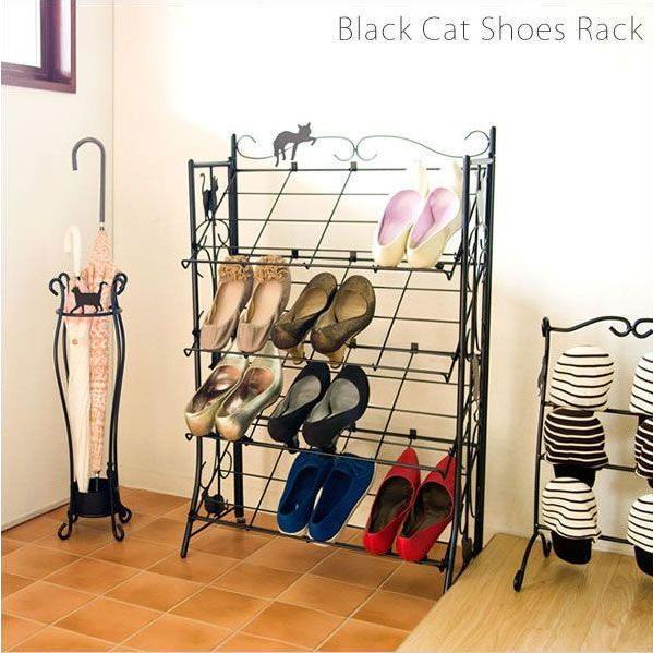 猫シューズラック(4段) 猫シューズラック(4段) 猫シューズラック(4段) シューズボックス 靴箱 スリム おしゃれ 333
