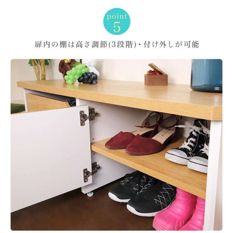 玄関ベンチ 幅51cm ブラウン 木製 玄関 椅子 靴箱 ナチュラル 日本製|sangostyle|08