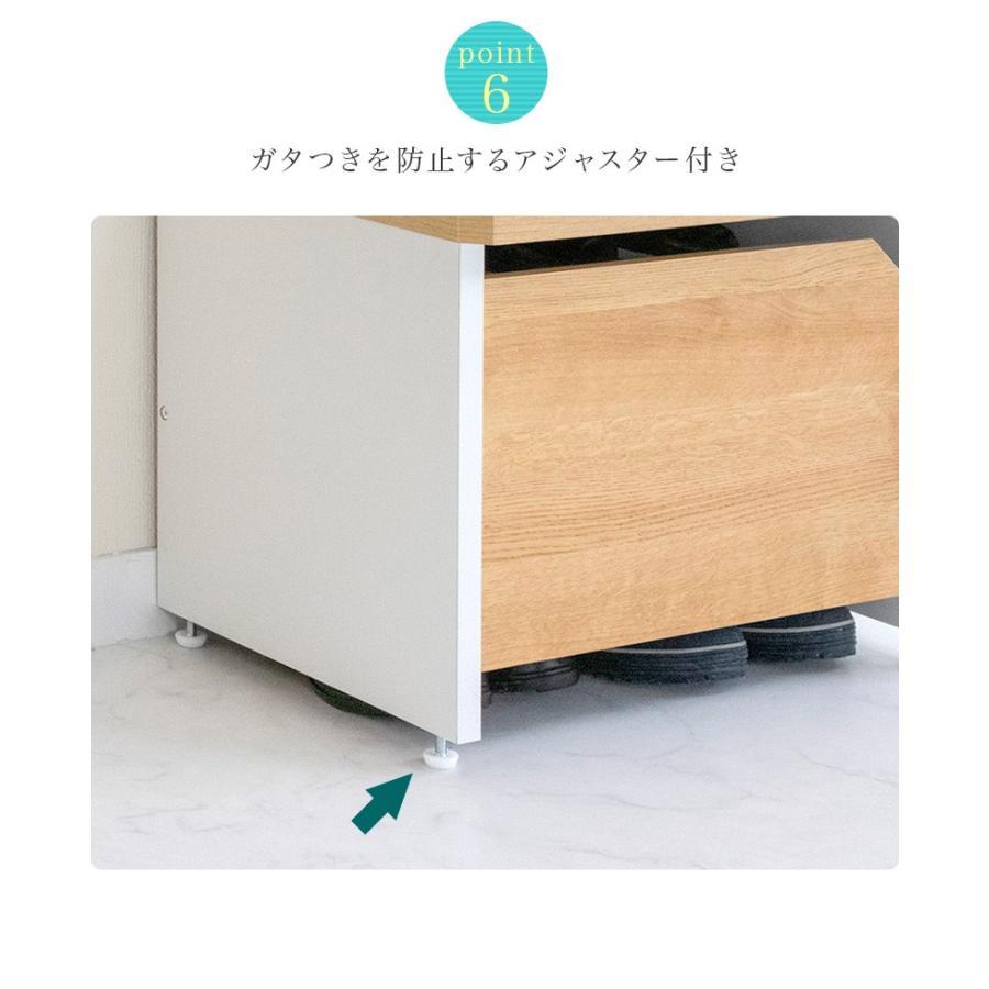 玄関ベンチ 幅51cm ブラウン 木製 玄関 椅子 靴箱 ナチュラル 日本製|sangostyle|10