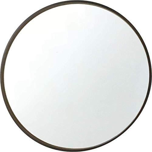 Plywood wall mirror mirror km-91B ブラウン Φ362mm 壁掛け鏡