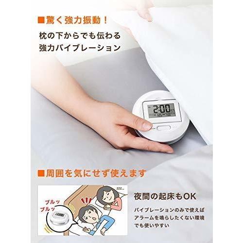 ブラック 振動タイプ  目覚まし時計 振動式 バイブレーション デ|sankaku0615|03