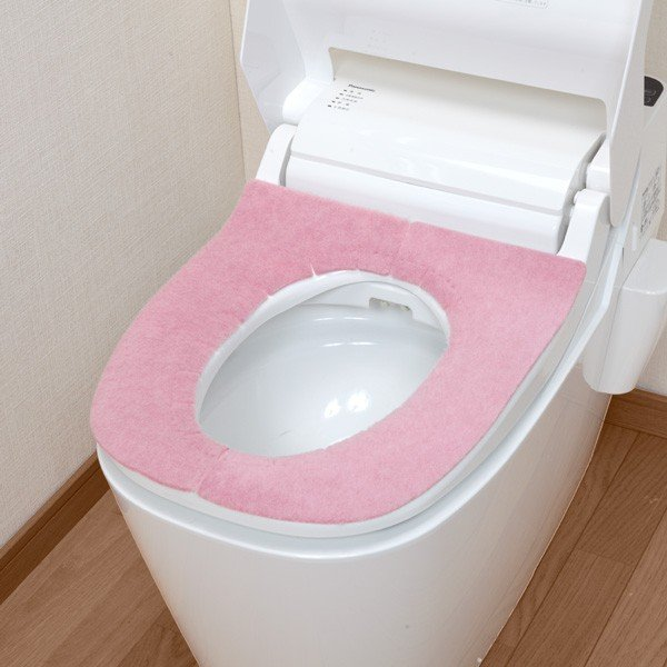 便座カバー 貼るタイプ ふかテックベンザシート 大型用 O型 U型 洗浄暖房型 洗える アンモニア消臭 おしゃれ 日本製 おくだけ吸着 サンコー|sanko-online|06