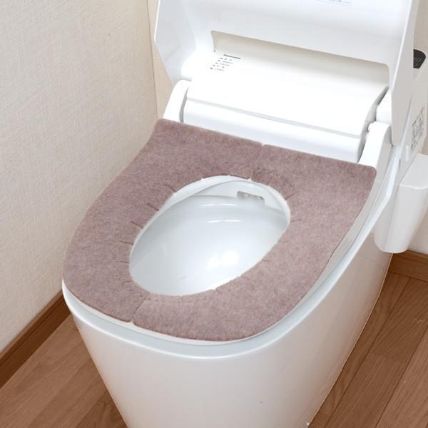 便座カバー 貼るタイプ ふかテックベンザシート 大型用 O型 U型 洗浄暖房型 洗える アンモニア消臭 おしゃれ 日本製 おくだけ吸着 サンコー|sanko-online|08