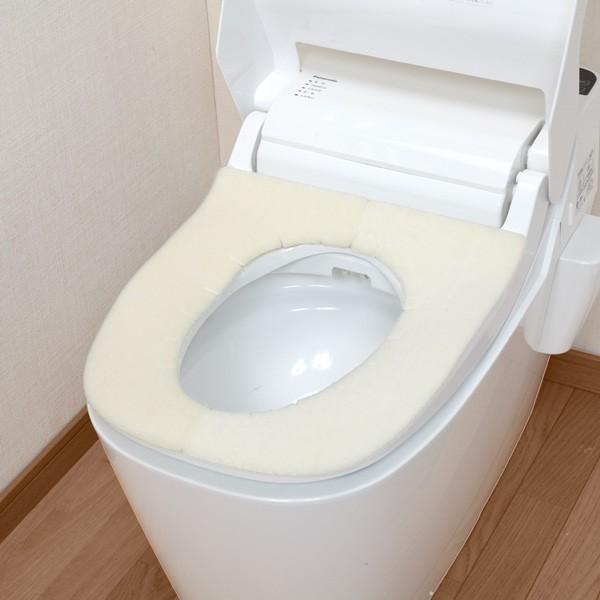 便座カバー 貼るタイプ ふかテックベンザシート 大型用 O型 U型 洗浄暖房型 洗える アンモニア消臭 おしゃれ 日本製 おくだけ吸着 サンコー|sanko-online|09