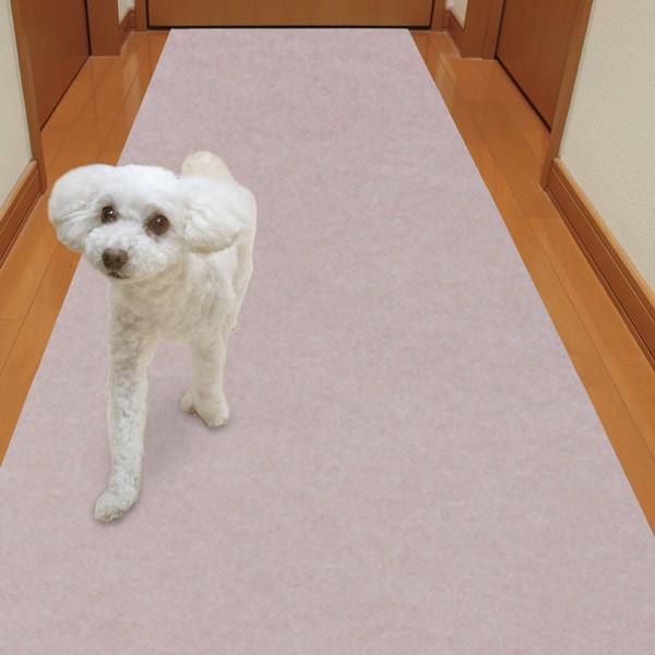 廊下敷きマット カーペット ずれない 滑らない 犬 ペット 吸着 洗える 消臭保護 60×120cm おくだけ吸着 サンコー|sanko-online|07