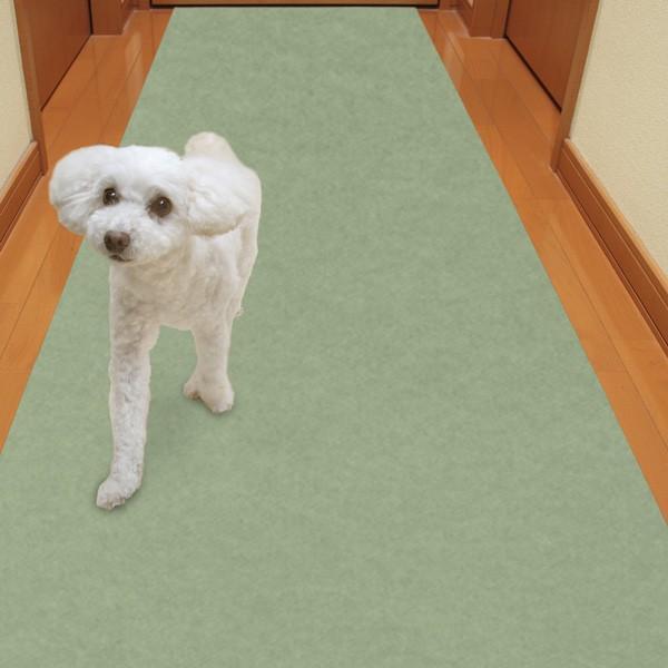 廊下敷きマット カーペット ずれない 滑らない 犬 ペット 吸着 洗える 消臭保護 60×120cm おくだけ吸着 サンコー|sanko-online|08