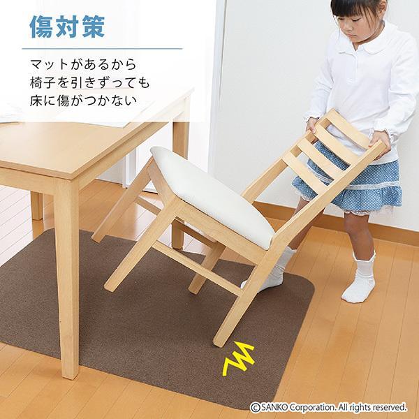 チェアマット デスクカーペット おしゃれ 傷 キズ防止 120×90cm 畳の上 無地 洗える 在宅 日本製 おくだけ吸着 サンコー|sanko-online|15