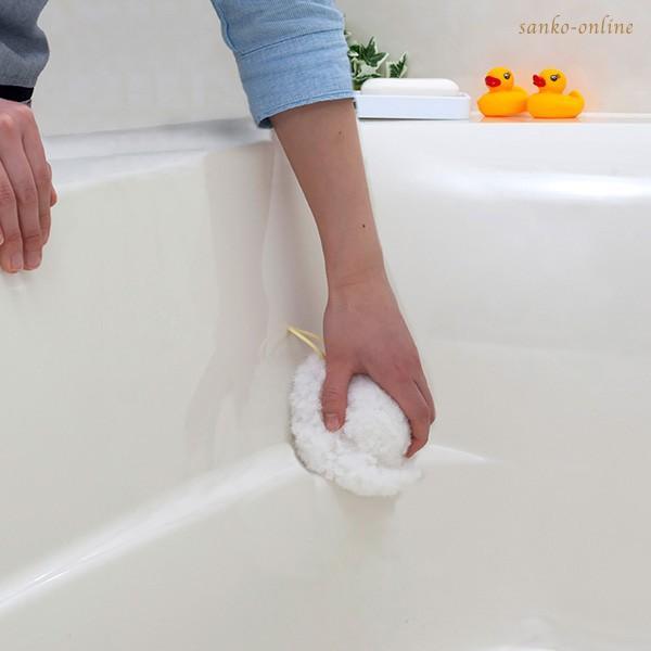 お風呂掃除 ブラシ スポンジ おすすめ びっくりふきちゃんクリーナー 水切り 日本製 びっくりフレッシュ サンコー ユニットバス 浴槽 用具 用品|sanko-online|13