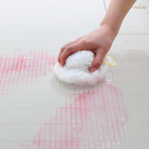 お風呂掃除 ブラシ スポンジ おすすめ びっくりふきちゃんクリーナー 水切り 日本製 びっくりフレッシュ サンコー ユニットバス 浴槽 用具 用品|sanko-online|03