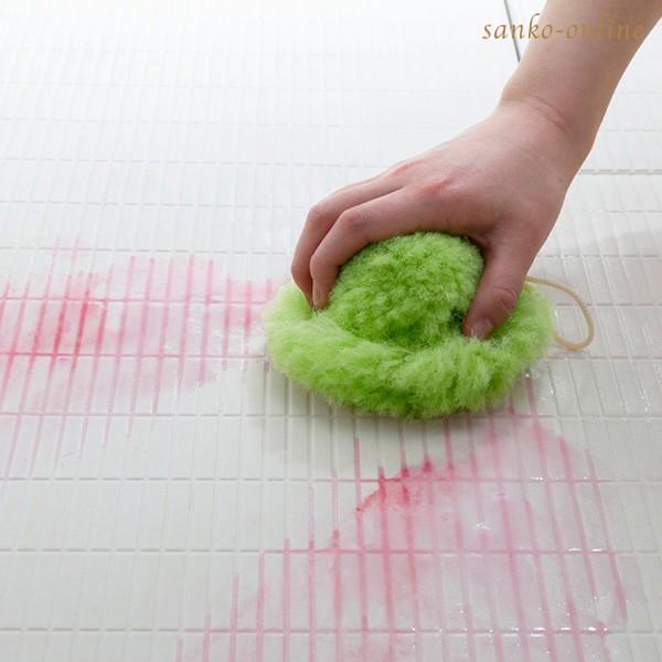 お風呂掃除 ブラシ スポンジ おすすめ びっくりふきちゃんクリーナー 水切り 日本製 びっくりフレッシュ サンコー ユニットバス 浴槽 用具 用品|sanko-online|08
