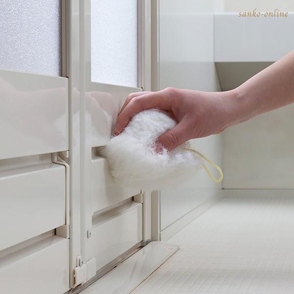 お風呂掃除 ブラシ スポンジ おすすめ びっくりふきちゃんクリーナー 水切り 日本製 びっくりフレッシュ サンコー ユニットバス 浴槽 用具 用品|sanko-online|10