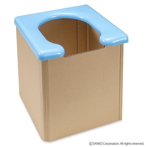 簡易トイレ 防災 備蓄 ポータブル 非常用 避難 災害用 介護 組み立て簡単 折りたたみ 地震 携帯 サンコー|sanko-online|08
