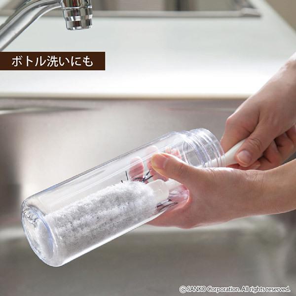 ブラシ 抗菌 洗剤いらず ベビーマグ洗い ボトル洗浄 スポンジ 食器 便利グッズ おすすめ 日本製 びっくりフレッシュ サンコー|sanko-online|08