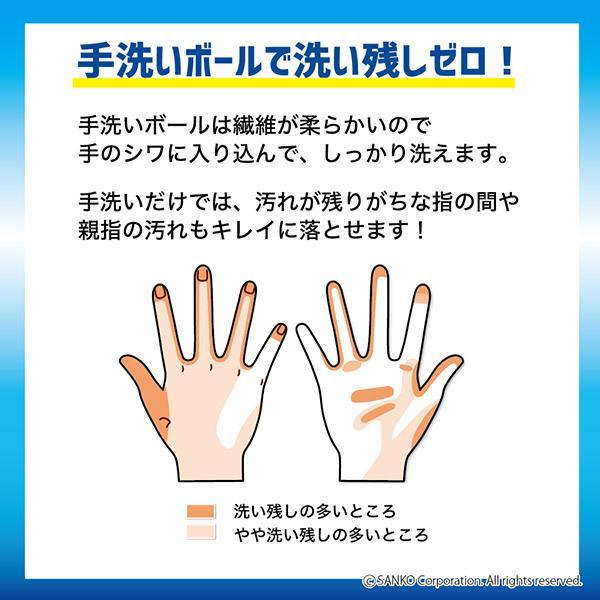 手洗い ブラシ おすすめ 抗菌 おしゃれ 円形 インフルエンザ 風邪対策 子供 日本製 びっくりフレッシュ 帰ったら手洗いボール グレー サンコー sanko-online 03