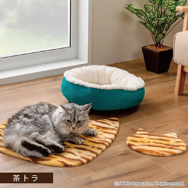 ペットマット 洗える ネコ 滑り止め フローリング 暖かい 猫 ベッド ねっころ くつろぎ 床暖房 アンモニア臭 下敷き おくだけ吸着 サンコー sanko-online 02