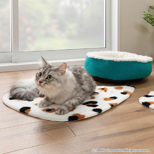 ペットマット 洗える ネコ 滑り止め フローリング 暖かい 猫 ベッド ねっころ くつろぎ 床暖房 アンモニア臭 下敷き おくだけ吸着 サンコー sanko-online 11