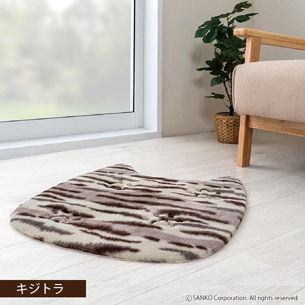 ペットマット 洗える ネコ 滑り止め フローリング 暖かい 猫 ベッド ねっころ くつろぎ 床暖房 アンモニア臭 下敷き おくだけ吸着 サンコー sanko-online 04