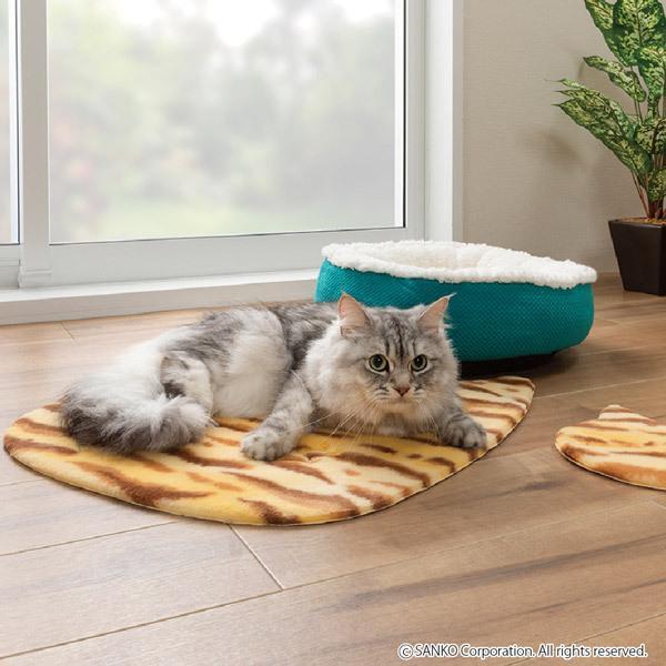 ペットマット 洗える ネコ 滑り止め フローリング 暖かい 猫 ベッド ねっころ くつろぎ 床暖房 アンモニア臭 下敷き おくだけ吸着 サンコー sanko-online 10
