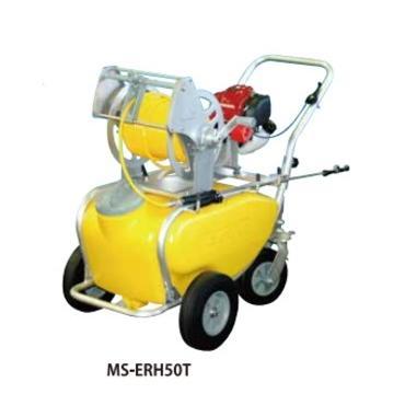 4サイクルエンジン式小型動噴「ガーデンスプレーヤー」MS-ERH50T:50リットル