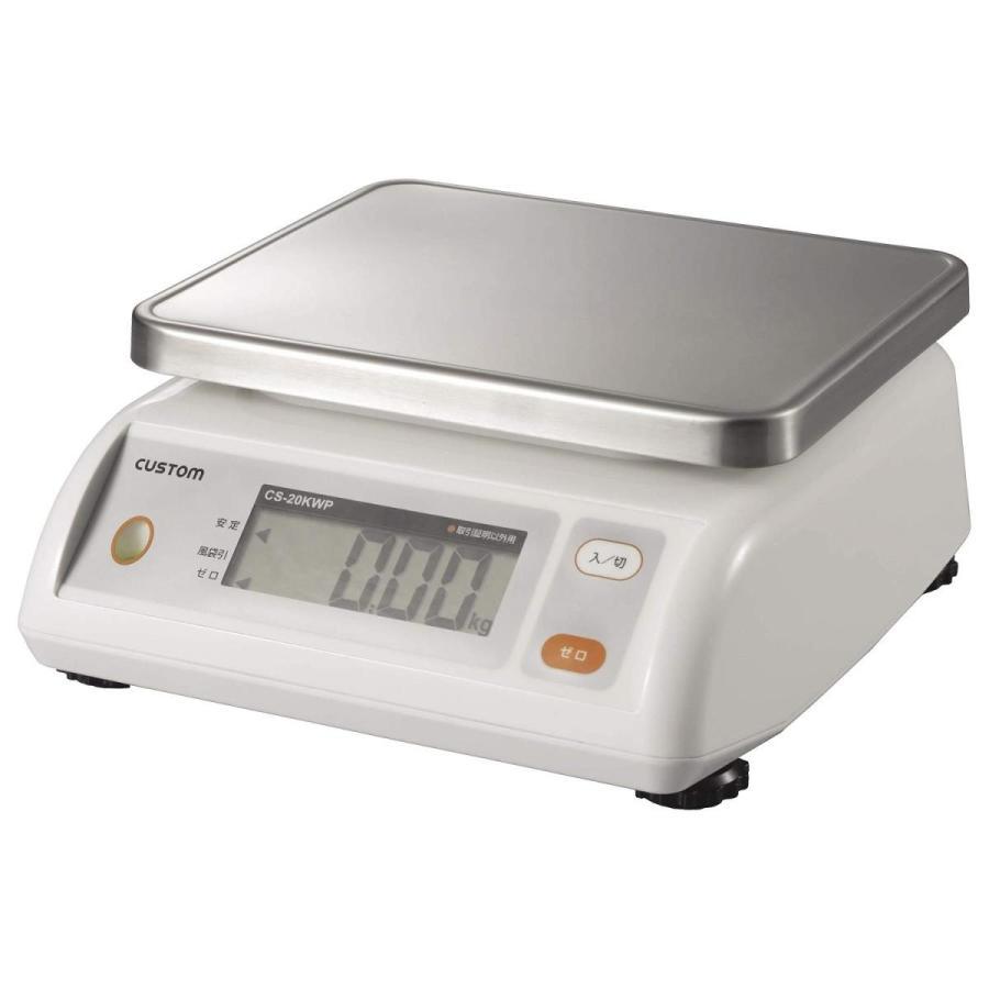 カスタム (CUSTOM) デジタル防水はかり 5kg ステンレス皿付 CS-5000WP