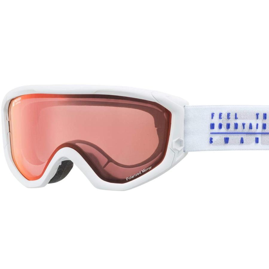 【国産ブランド】SWANS(スワンズ) スキー スノーボード ゴーグル くもり止め プレミアムアンチフォグ搭載 ミラー 偏光 スキー スノーボード 6