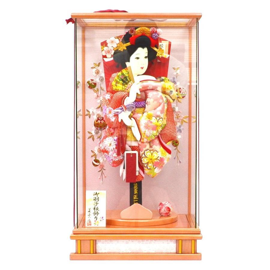 羽子板 お祝い 匠一好 絞り刺繍 本真珠付 パール付 15号 ケース飾り 正月飾り 初正月