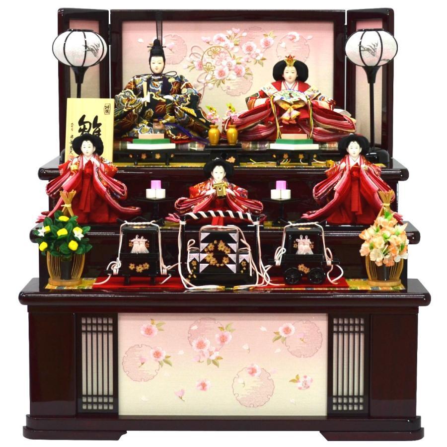 雛人形 五人収納飾り 平安豊久作 引き出し収納