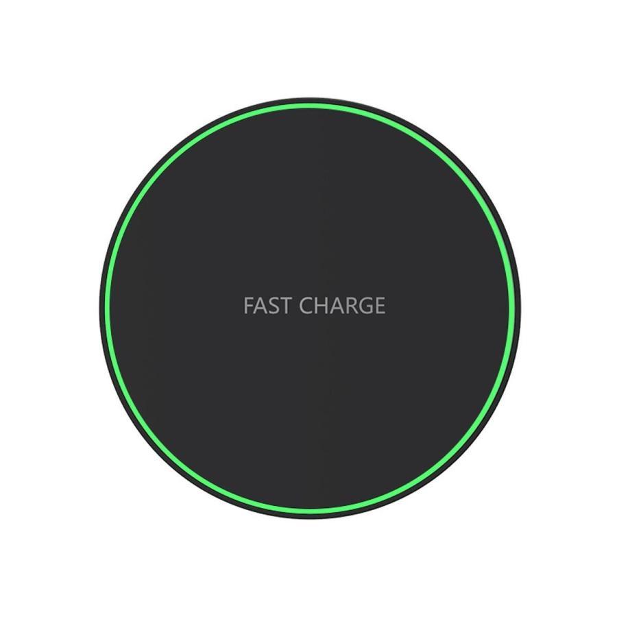 ワイヤレス充電器 最大 10W 急速 iPhone 12 / 12Pro 等QI充電に対応 置くだけ充電 ブラック ホワイト 定番|sanosyoten|12