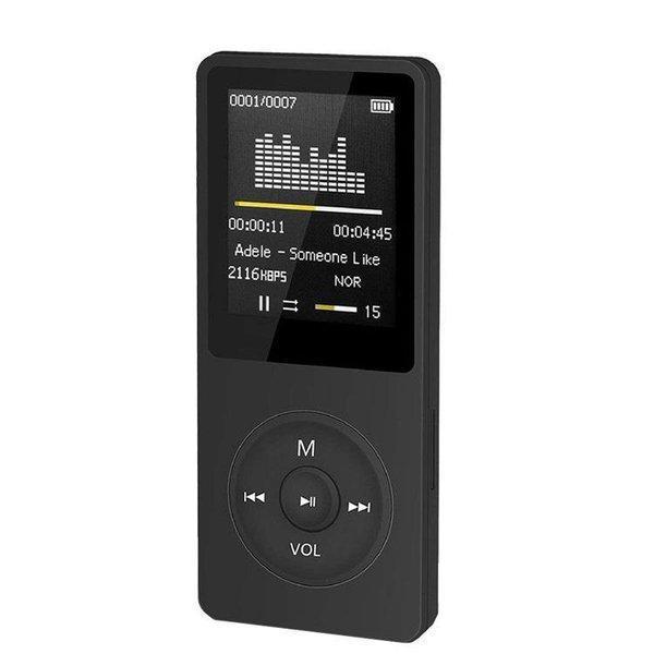 MP3 MP4兼用プレーヤー Hi-Fi 最大70再生時間 ロスレス音質 音楽プレーヤー 内蔵容量16GB マイクロSDカードに対応 選べる3カラー定番