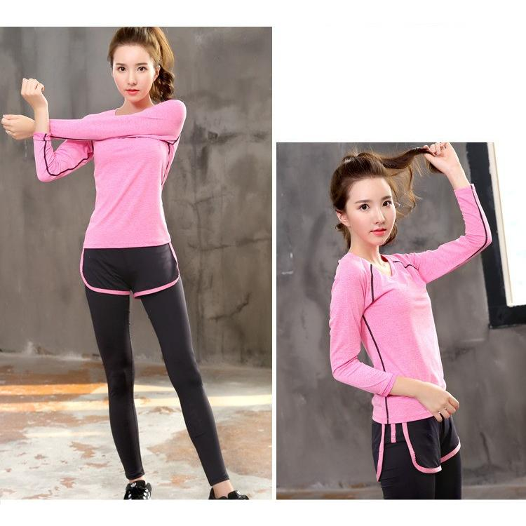 ヨガウェア Tシャツ 長袖 かわいい 長袖トップス  ジョギング ジム エクササイズ 体操 ランニングウェア ダンスウェア 送料無料FJLE-09|sanpi|08