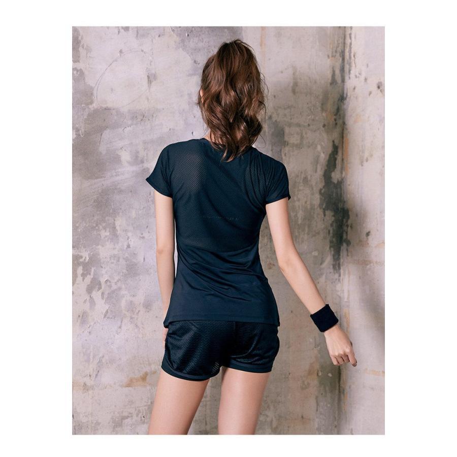 ヨガウェア トレンドアイテム Tシャツ トップス かわいい 半袖トップス おしゃれ ルームウェア フィットネスウェア FJLE-21|sanpi|10