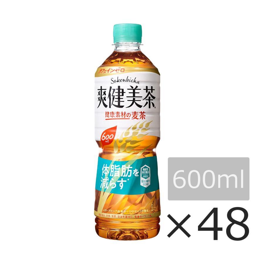 爽健美茶 健康素材の麦茶 600ml 48本 2ケース ペットボトル 脂肪を減らす 機能性表示食品 送料無料 メーカー直送品