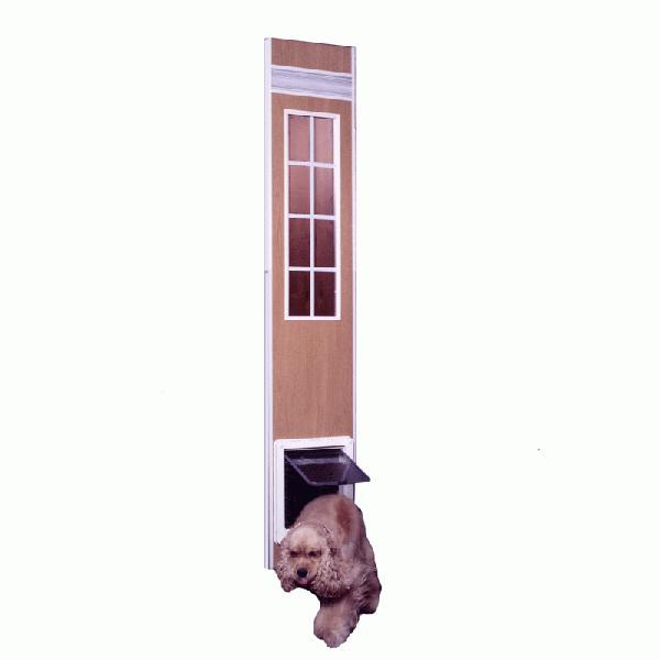 【工事不要サッシ取付犬用ドア】ドッグフリードアー 小·中型犬用1750·M型 (1m75cm·1m95cm)